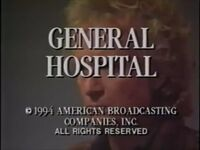 General Hospital Video Close From July 19, 1994 - 3