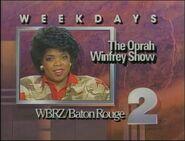 WBRZ-TV The Oprah Winfrey Show promo 1987