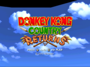 DKCR 2010 Wii Title Screen