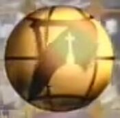 EWTN Golden globe close up