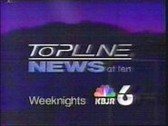 KBJR-TV's News 6 Topline At 10 Video Promo From 1995