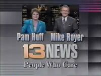 WVTM-TV Alabama's 13 News Pam Huff and Mike Royer promo 1994
