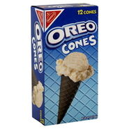 Oreo ice cream cones