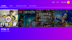 Gamehub NG Home Screen