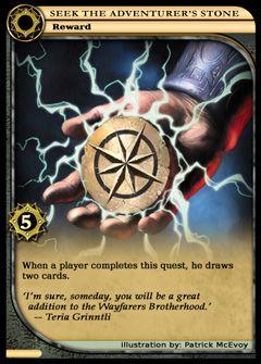 Seek The Adventurers Stone full card