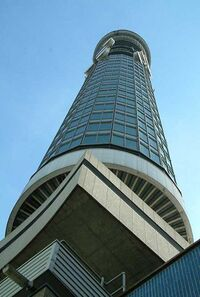 BT Tower - from base - London - 020504
