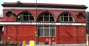 South Kensington station building