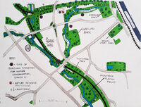 Burnt Oak green spaces map