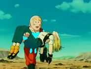 Krillin carrying 18
