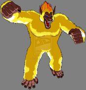 Golden great ape by lssjbardock-d2yrv87