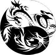 Dragon yin yang tribal tattoo by xisangelraine