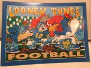 Looney Tunes Football Cartoon Classic vtg Tin Metal Sign Warner Brother 1990's