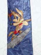 Wile E Coyote Necktie Tie Warner Bros Looney Tunes Novelty Surfing Silk
