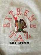 Vintage Looney Tunes Sweatshirt, Large - Extreme Taz Ski Utah - Velva Sheen
