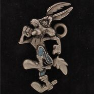 Wile E Coyote Super Genius Running Figure Charm