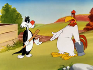 Crowing pains-PD Looney Tunes- sylvester + foghorn