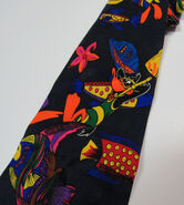 Looney Tunes Neon 55 Tie Scuba Diving Ocean Fish Daffy Necktie