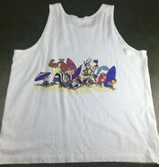True Vintage 1991 Looney Tunes Bugs Bunny Daffy Duck Sleeveless Beach Tank Top (Back)