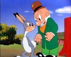 Happy Rabbit with Elmer