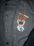 Looney Tunes Bugs Bunny Tasmanian Devil Letterman Jacket (Front)
