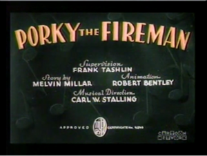 Porky The Fireman (Computer Colorized)