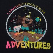 Taz Underwater Adventures T-Shirt Vintage 1980s Soft Tasmanian Devil