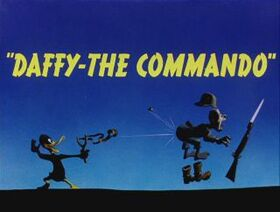Daffy The Commando title card