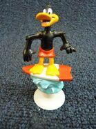 Looney Tunes Daffy Duck on Surf Board 1992 Warner Bros Figurine 3.25