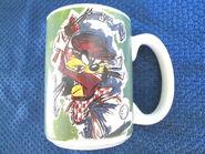 WB STUDIO STORE TAZ DEVIL GOLF LOGO COFFEE MUG CUP 1995 QUICK SHIPPER
