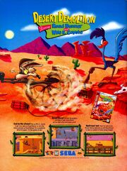 Desert Demolition Road Runner Wile coyote game print ad Nick Mag March 1995