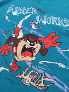 Vintage 1989 Taz Water Works Tee Shirt