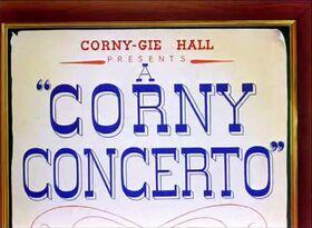 A corny concerto title card