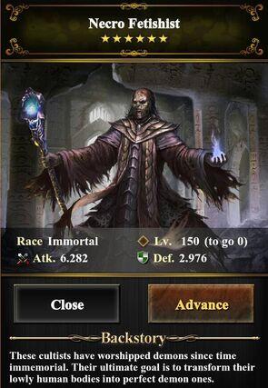 Necro Fetishist Level 150 (image)