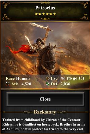 Card - Patroclus