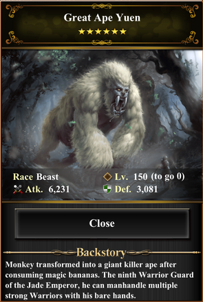 Card - Great Ape Yuen-max