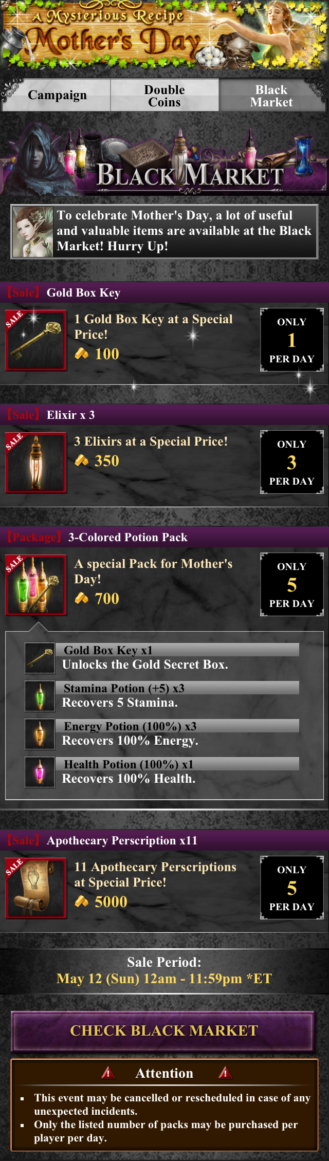 Mother's Day-Black Market