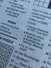 Inga Cadranel - New York Times crossword puzzle (7-4-2015)