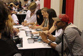 Fan Expo 2011 Lost Girl Cast (Holden-Ried Solo Palmer Silk Howland Collins)