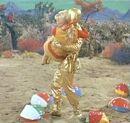 Keema saving Judy from the beach balls