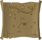 Map clue Picnic tables