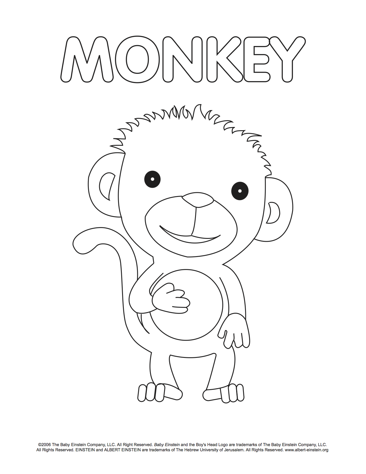 Baby Einstein My Bear Book Coloring Coloring Pages