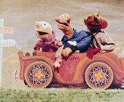 Sam and Friends in a car