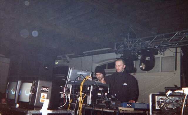 File:Boards of Canada Warp Lighthouse Party 1999.jpg