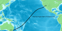 Flight path of Oceanic 815