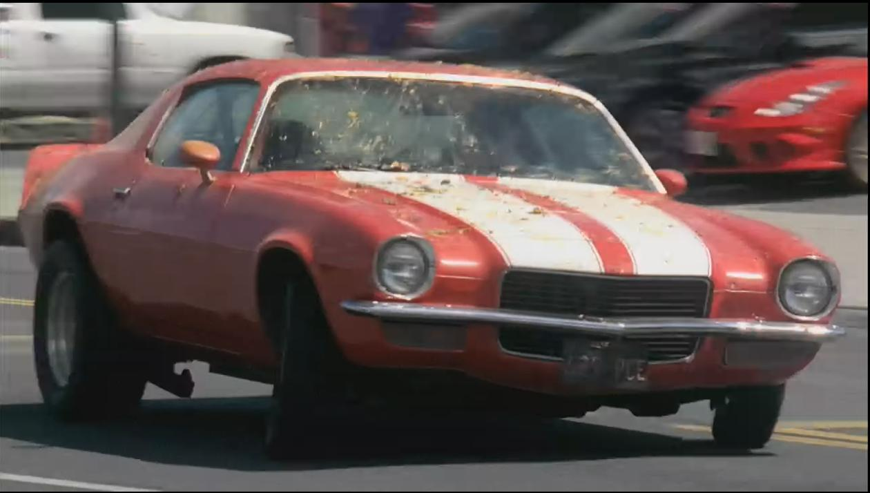 Hurley's Camaro being chased