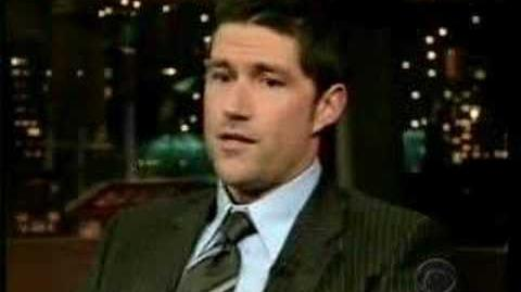 Matthew Fox on Letterman 15 12 06