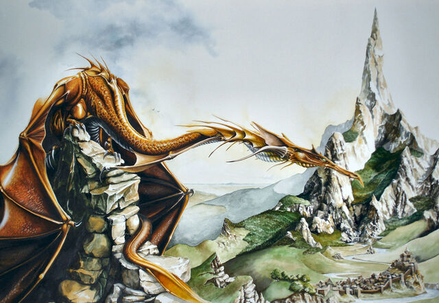 File:Smaug and the Lonely Mountain by Atriedes.jpg