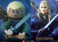 Legolas movie poster lego lotr-600x437
