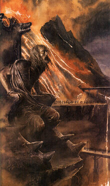 Alan Lee - Hurin in his chair