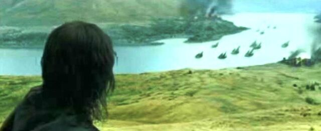 File:Aragorn saw the Corsairs of Umbar destroying the port of Pelargir.JPG